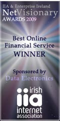 2009 Best Online Financial Service - Irish Internet Association